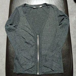 BDG Dark Grey zipup cardigan